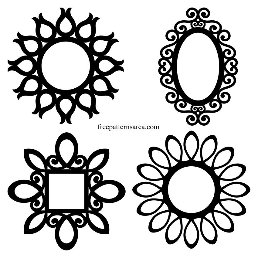 vintage mirror drawing. Download Free Design To Make Wall Mirrored Frame. Vintage Mirror Drawing O