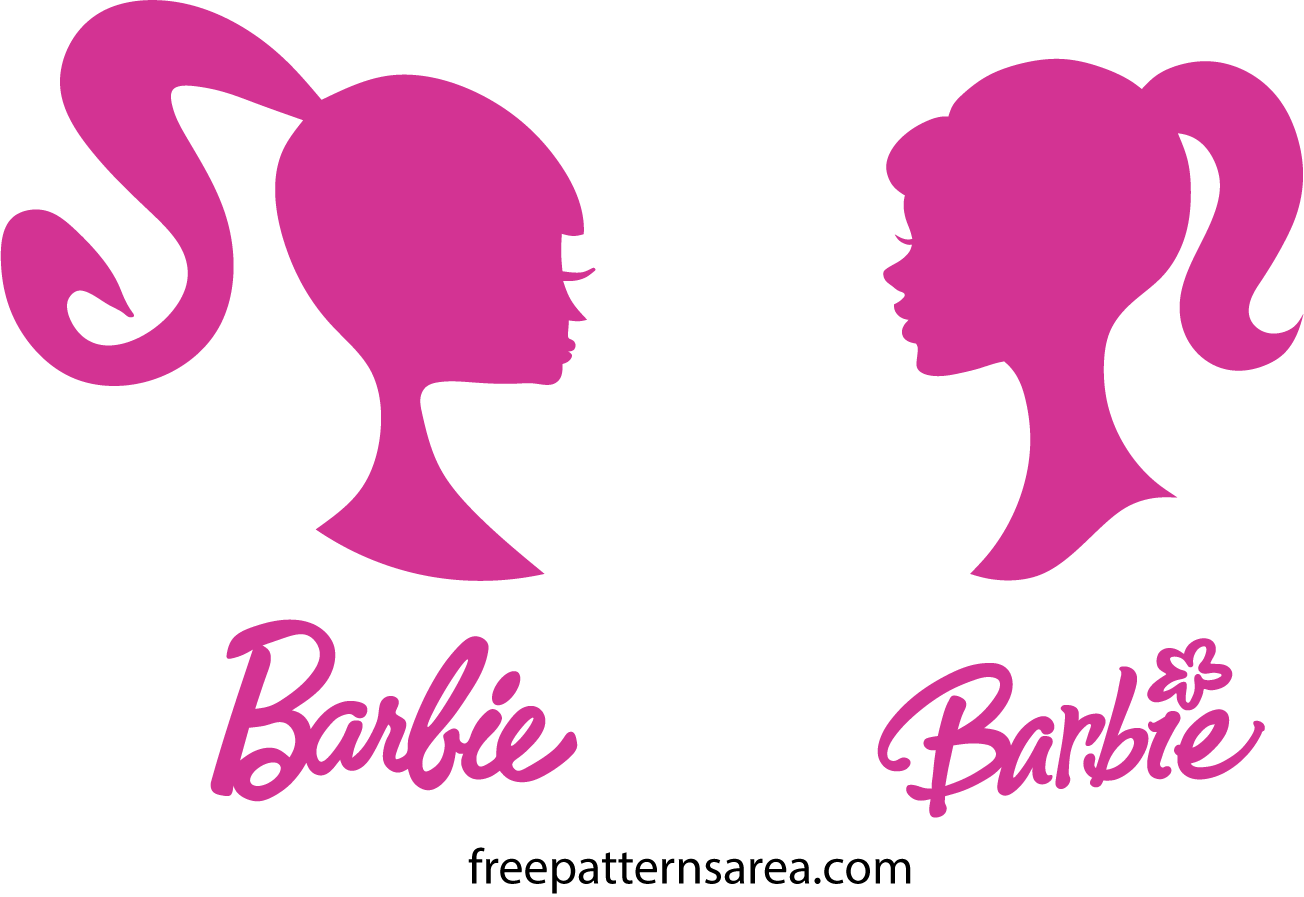 Barbie Silhouette Head Vector Logo Sign | FreePatternsArea