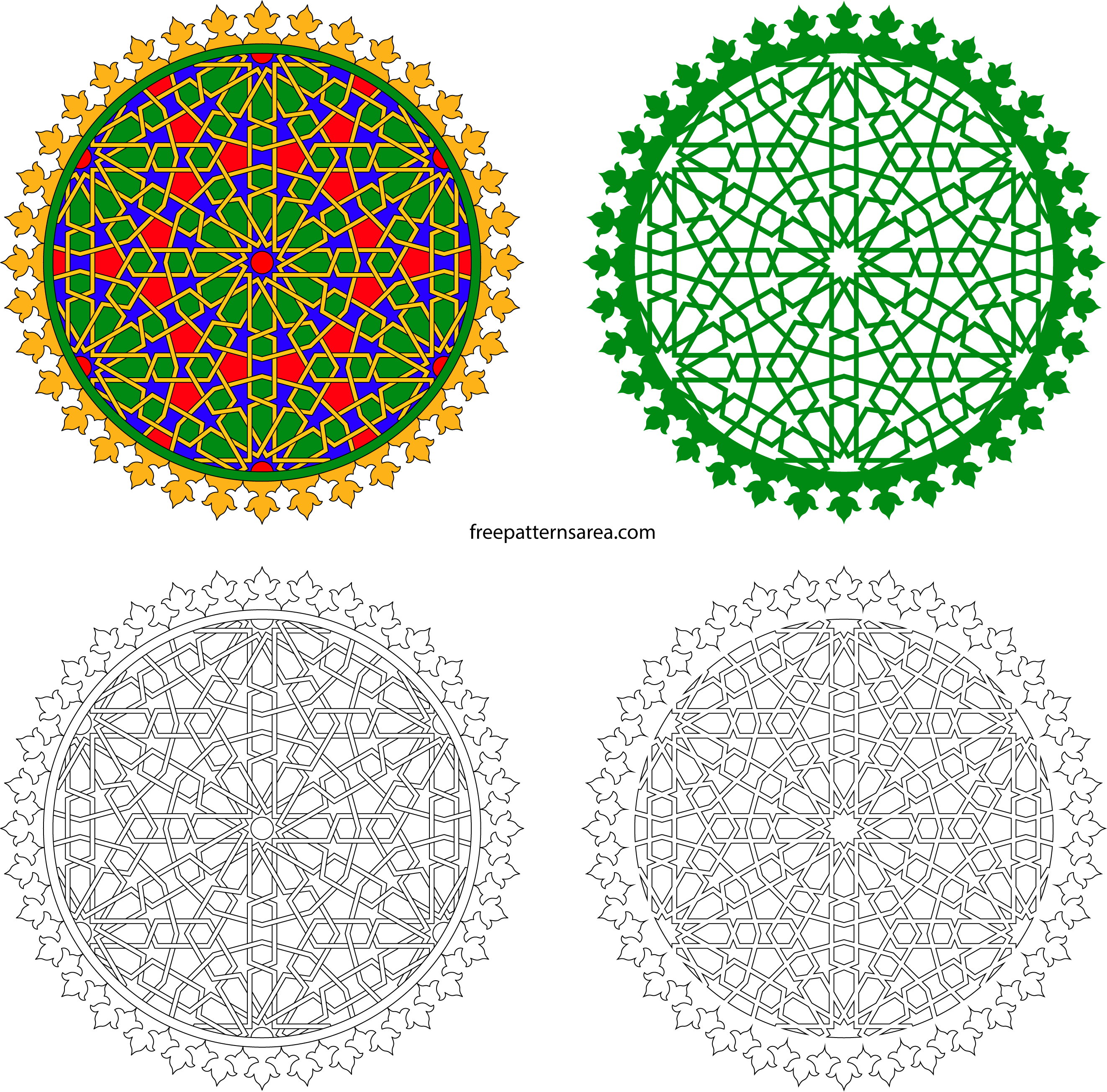 Islamic pattern autocad free download